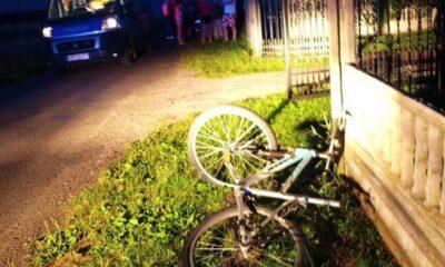 Miejsce, w którym w Steklinku zginął na rowerze 11-letni Kacper Fot. Policja