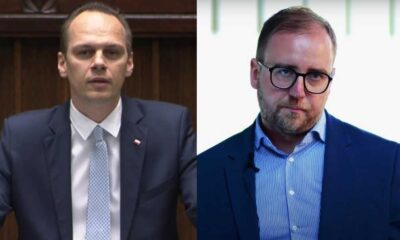 Rafał Weber, wiceminister infrastruktury i Konrad Romik, dyrektor Sekretariatu Krajowej Rady BRD w resorcie infrastruktury Źródło: YouTube